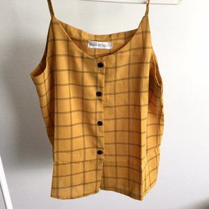 Yellow Button Front Camisole